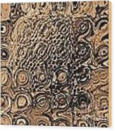 Abstract In Brown Wood Print