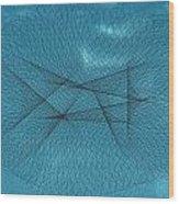 Abstract Jellyfish Wood Print