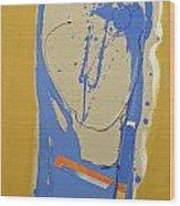 Abstract Kopf  Wood Print