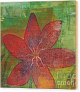 Abstract Lilly  Wood Print