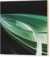 Abstract Lines, Leaf Shape Wood Print