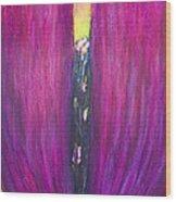 Abstract Magenta Tulip Flower  Wood Print