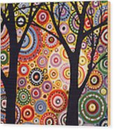 Abstract Modern Tree Landscape Distant Worlds By Amy Giacomelli Wood Print