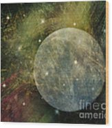 Abstract Moon Wood Print