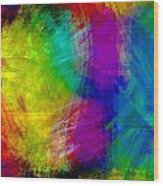 Abstract Multi Colors Wood Print