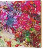 Abstract Multi Floral Wood Print