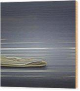 Abstract Newspaper Wood Print