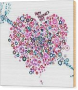 Abstract Pattern Valentine Wood Print