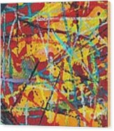 Abstract Pizza 1 Wood Print