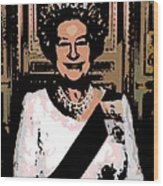 Abstract Portrait Of A Queen Wood Print
