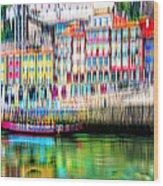abstract Portuguese city Porto-1 Wood Print
