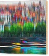 abstract Portuguese city Porto-2 Wood Print