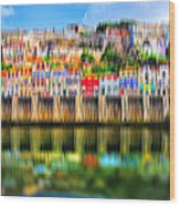 abstract Portuguese city Porto-5 Wood Print