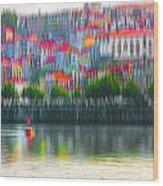 abstract Portuguese city Porto-6 Wood Print