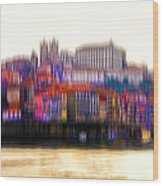 abstract Portuguese city Porto-8 Wood Print