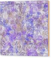 Abstract Purple Splatters Wood Print