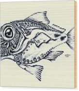 Abstract Redfish Wood Print