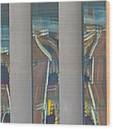 Abstract Reflection 34 Wood Print