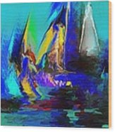 Abstract Regatta Wood Print