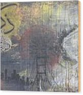 Abstract Remeber Night And Day Wood Print by Salwa  Najm