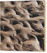 Abstract Sand 3 Wood Print