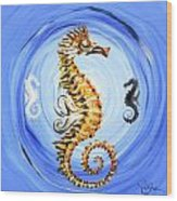 Abstract Sea Horse Wood Print by J Vincent Scarpace