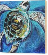 Abstract Sea Turtle In C Minor Wood Print