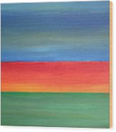 Abstract Seascape Wood Print