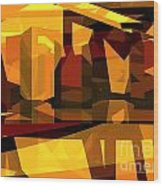 Abstract Sin 27 Wood Print