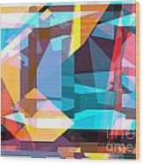Abstract Sin 28 Wood Print