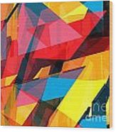 Abstract Sine L 14 Wood Print