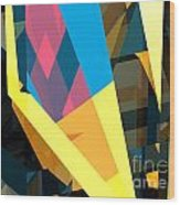 Abstract Sine L 16 Wood Print