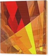 Abstract Sine L 17 Wood Print