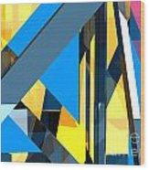 Abstract Sine L 18 Wood Print