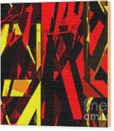 Abstract Sine L 20 Wood Print