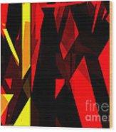 Abstract Sine L 21 Wood Print