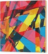 Abstract Sine P 13 Wood Print