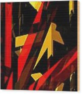 Abstract Sine P 2 Wood Print