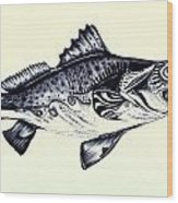 Abstract Speckled Trout Wood Print by J Vincent Scarpace