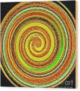 Abstract Spiral Wood Print