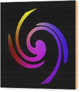 Abstract Spiral Color Wood Print