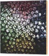 Abstract Straws Wood Print