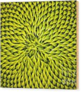 Abstract Sunflower Pattern Wood Print