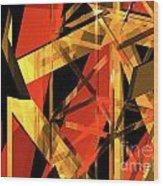 Abstract Tan 2 Wood Print