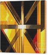 Abstract Tan 3 Wood Print