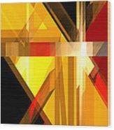 Abstract Tan 5 Wood Print