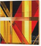 Abstract Tan 7 Wood Print