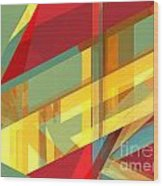 Abstract Tan 9 Wood Print