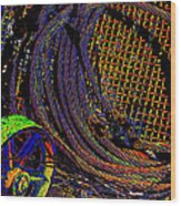 Abstract Textures Wood Print