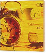 Abstract Time Wood Print